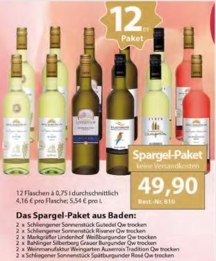 """""""Spargel-Weinpaket"""""""