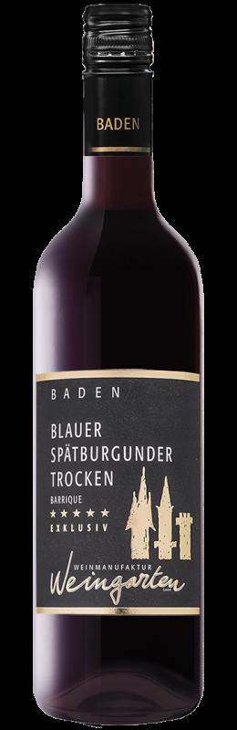 Weinmanufaktur Weingarten Spätburgunder Exklusiv Barrique Rw Baden Qw trocken