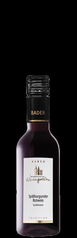 Weinmanufaktur Weingarten Spätburgunder Tradition Rw Qw Baden halbtrocken
