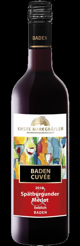 Cuvée Rot Spätburgunder und Merlot Qualitätswein Baden lieblich